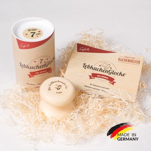 Lebkuchenglocke 7 cm (inkl. Rezeptheft & Anleitung)